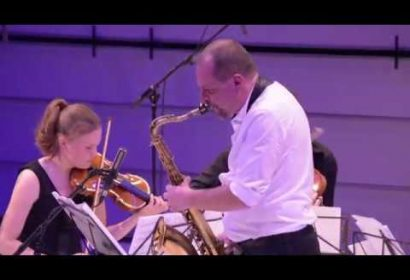 Blazing Flames for Tenor saxophone and String Quartet